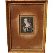 Victorian Stevengraph of 16th Century Lady