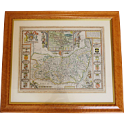 1627 Map of Suffolk by John Speede