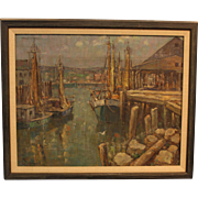 """Westport Harbor"" by W.F. Matthews"