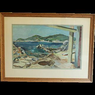 """""""Rocky Harbor - Calella de Palafrugell"""", Watercolor Sketch"""