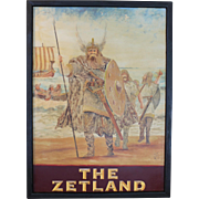 """The Zetland"" Pub Sign"
