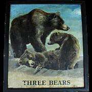 """""""Three Bears"""" English Pub Sign"""