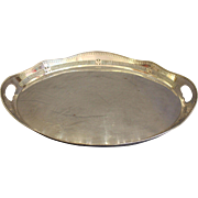 19th Century English Silverplated Oval Tea