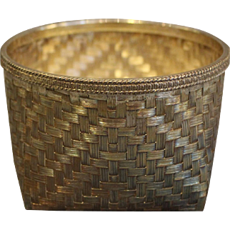 Tane Woven Silver Basket