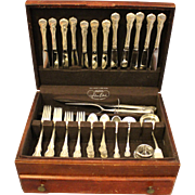 Sterling Flatware Set by Towle, French Provincial Pattern