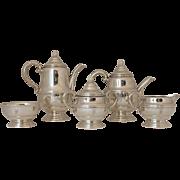 Sterling Silver Five Piece Tea & Coffee Set