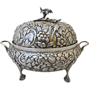 Samuel & Son, Kirk coin Silver Footed & Covered Bowl