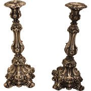 Pair of Meriden Silverplated Candlesticks