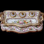 Old Paris Porcelain Standish