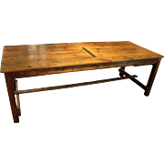 English Scrubbed Pine Work Farm Table