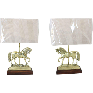 Brass Horse Chimney Ornament Lamps