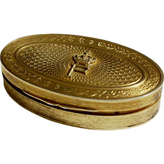 19th Century French Gilt Patch Box