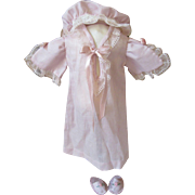 Darling Bleuette Nightgown, Slippers, and Cap