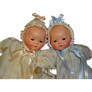 Adorable Antique Twins-Armand Marseille 341 Baby Dolls