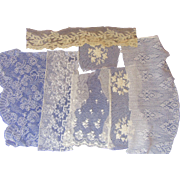 Seven Antique Lace Snippets