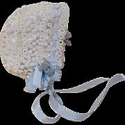 Exquisite Antique Tatted Lace Doll Bonnet