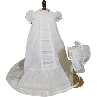 Snowy White Vintage Baby Doll Gown Set