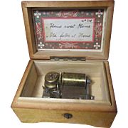 Beautiful Antique Doll Size Thorens Music Box