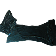 Very Beautiful Antique Silk Velvet Remnant