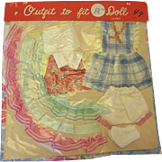 """CUTE 1950's Packaged Outfit For an 8"""" Doll"""