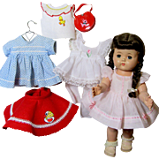 Irresistible 1950's Walking Doll With Wardrobe!