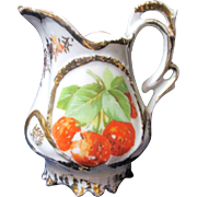 Antique Child's Creamer-Strawberry Pattern