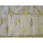 Gorgeous Antique Silk Skirt Panel-Cream Silk