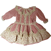 Charming Vintage Doll Dress-Lots of Lace