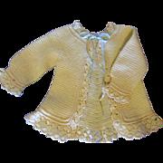 Beautiful Antique Wool Doll Sweater