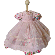 Pretty 1950's Doll Dress & Pinafore