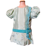 Vintage Aqua Taffeta Doll Dress
