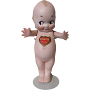 Original All Bisque Kewpie With Labels!