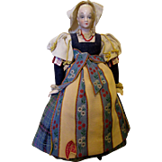 Unusual China Head Folk Doll