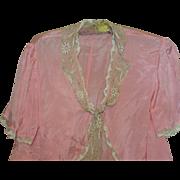 Delicious Vintage Silk Boudoir Jacket