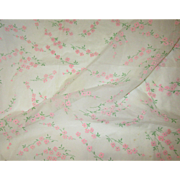Beautiful Vintage Nylon Organdy Flocked Fabric