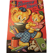 "Marvelous ""Bouncie Bear's Vintage Coloring Book By Merrill"