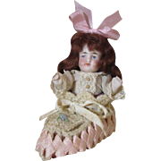 Cute All Bisque Doll In A Baby Shoe