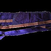 Sumptuous Antique Silk Remnant-Royal Purple