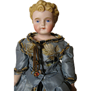 Sweet Faced Parian Doll-Beautifully Dressed