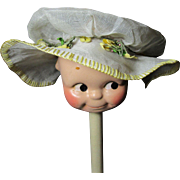 Whimsical Antique Doll Bonnet