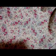 Charming Antique Flour Sack Cotton Fabric-Roses