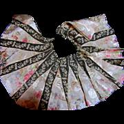Rare Antique Silk Taffeta Flounce