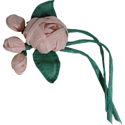 Handmade Vintage Organdy Rose