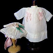 Daisy's Tucked Dress & Lingerie Bonnet-Kestner 1911