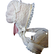 Beautiful Antique Doll Bonnet