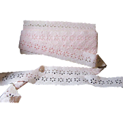 Sweet Vintage Cotton Embroidered Trim