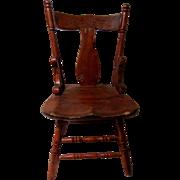 Cute Wooden Doll Chair