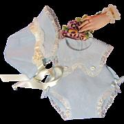 Delightful Dy Dee Baby Organdy Sunsuit & Bonnet