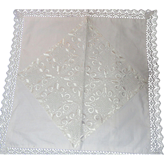 Fancy Embroidered Cotton Pillow Sham