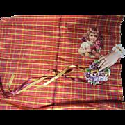 Fine Small Plaid Silk Taffeta Fabric